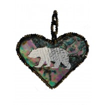 Pendant Bear Heart Large