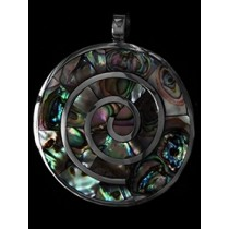 Ancestral Desing In Abalone Shell Pendant