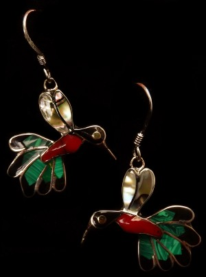 Mexican Hummingbird Earrings